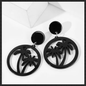 Jewelry - 🌴 Palm Tree Round Dangle Earrings
